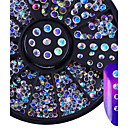 cheap Handlebars & Stems-colorful crystal rhinestone 3d nail decoration ab color sharp bottom 2mm 3mm multi size manicure nail art decoration in wheel