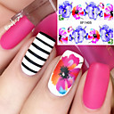 billige Dekaler-1 pcs Vandoverførings klistermærke Negle kunst Manicure Pedicure Mode Daglig