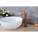 baratos Torneiras de Banheiro-Válvula de cerâmica contemporânea centerset único punho de um buraco torneiras pia do banheiro torneira do banheiro