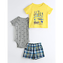 cheap Baby Boys' Clothing Sets-Baby Children's Casual/Daily Geometic Clothing Set Cartoon Yellow