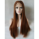 cheap Hair Braids-Synthetic Lace Front Wig Straight Synthetic Hair Brown Wig Women's Medium Length / Long Lace Front
