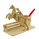 cheap Models & Model Kits-3D Puzzles Jigsaw Puzzle Wood Model Model Building Kit Horse 3D Simulation DIY Wood Classic Kid's Unisex Gift