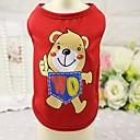 tanie Ubrania dla psów-Kot / Psy T-shirt / Kamizelka Ubrania dla psów Zwierzę Czerwony / Niebieski / Różowy Bawełna Kostium Dla zwierząt domowych Lato Męskie / Damskie Codzienne