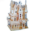 cheap Wooden Puzzles-3D Puzzle Jigsaw Puzzle Wood Model Model Building Kit Castle Famous buildings Wood Natural Wood Adults' Unisex Gift