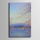 tanie Obrazy: motyw roślinny/botaniczny-Hang-Malowane obraz olejny Ręcznie malowane - Kwiatowy / Roślinny Retro Płótno / Rozciągnięte płótno