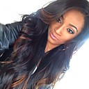 cheap Human Hair Wigs-Human Hair Glueless Lace Front / Lace Front Wig Body Wave Wig 130% Ombre Hair / Natural Hairline / African American Wig Women's Short / Medium Length / Long Human Hair Lace Wig / 100% Hand Tied