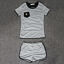 cheap Wall Stickers-Women's T-shirt - Patchwork Pant
