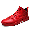 cheap Bakeware-Men's Tulle / PU(Polyurethane) Spring / Fall Comfort Sneakers White / Black / Red