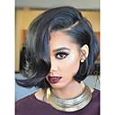 cheap Human Hair Wigs-Human Hair Glueless Full Lace / Full Lace Wig Brazilian Hair Wavy Wig Short Bob 130% With Baby Hair / Natural Hairline / Glueless Women's Short / Medium Length Human Hair Lace Wig / With Bangs
