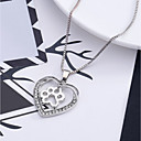 cheap Necklaces-Women's Pendant Necklace - Heart, Love Silver Necklace For Wedding, Party, Special Occasion / Anniversary / Birthday