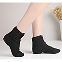 cheap Jazz Shoes-Women's Jazz Shoes Canvas / Fabric Flat / Heel Low Heel Customizable Dance Shoes Black / Red / Green / Practice