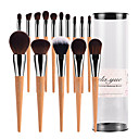cheap Eyeshadows-15pcs Makeup Brushes Professional Makeup Brush Set / Blush Brush / Eyeshadow Brush Synthetic Hair / Artificial Fibre Brush Big Brush /