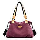 cheap Totes-Women's Bags Canvas Shoulder Bag for Outdoor Gray / Purple / Coffee
