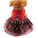 baratos Roupas para Cães-Gato Cachorro Smoking Vestidos Roupas para Cães Animal Amarelo Vermelho Rosa claro Chifon Algodão Rede Ocasiões Especiais Para animais de