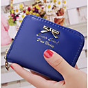 رخيصةأون محافظ-للمرأة أكياس PU دفتر شيكات محفظة إلى فضفاض فوشيا / أزرق عميق / أحمر