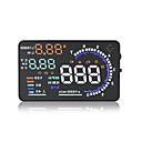 halpa Näytöt-a8 5.5inch OBD II auto HUD heijastusnäyttö automaattinen ikkunan heijastava näyttö projektori nopeus väsymys varoitus rpm mph