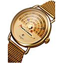 Χαμηλού Κόστους Ρολόι Φορέματος-Ανδρικά Ρολόι Καρπού χρυσό ρολόι Ιαπωνικά Ανοξείδωτο Ατσάλι Μαύρο / Καφέ / Χρυσό 30 m Ανθεκτικό στο Νερό Ημερολόγιο Δημιουργικό Αναλογικό Φυλαχτό Πολυτέλεια Κλασσικό Βίντατζ Καθημερινό -