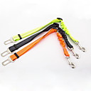 cheap Dog Collars, Harnesses & Leashes-Dog Car Seat Harness/Safety Harness Reflective Portable Safety Solid Nylon Black Orange Green
