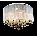זול פיאות תחרה משיער אנושי-6-אור צמודי תקרה תאורה כלפי מעלה מוברש מתכת קריסטל 220-240V צהוב נורה כלולה / משולב לד