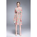 זול מטען כבלים ומתאמים-עד הברך פרחוני - שמלה סווינג חמוד בגדי ריקוד נשים
