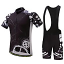 baratos Camisas & Shorts/Calças de Ciclismo-Homens Camisa com Bermuda Bretelle Moto Conjuntos de Roupas Equipamento
