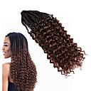 cheap Hair Braids-Curly 100% kanekalon hair Human Hair Extensions Hair Accessory Pre-loop Crochet Braids Hair Braids Daily