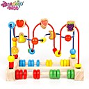 cheap Toy Abacuses-Danniqite Building Blocks Toy Abacus Pretend Play Education Large Size Wooden Boys' Kid's Baby Gift