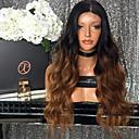 billige Fusionerede hårforlængelser-Remy hår Halvblonder uden lim / Blonde Front Paryk Krop Bølge Nuance Paryk 150% Ombre-hår / Natural Hairline / Afro-amerikansk paryk Nuance Dame Kort / Medium Længde / Lang Blondeparykker af