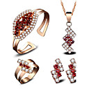 cheap Rings-Women's AAA Cubic Zirconia / Synthetic Ruby Jewelry Set - 18K Gold Plated Fashion, Euramerican Include Bridal Jewelry Sets Gold For Wedding / Party / Event / Party