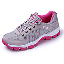 cheap Women's Athletic Shoes-Women's Shoes PU(Polyurethane) Spring / Fall Comfort / Light Soles Athletic Shoes Running Shoes Flat Heel Round Toe Lace-up Gray / Purple