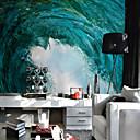 billige Vegglamper-Art Deco 3D Landskap Hjem Dekor Vintage Tapetsering, Lerret Materiale selvklebende nødvendig Veggmaleri, Tapet