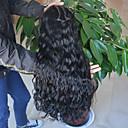 olcso Szintetikus parókák-Emberi haj Csipke eleje Paróka Brazil haj Hullámos Természet fekete Paróka 130% Haj denzitás 8-24 hüvelyk baba hajjal Természetes hajszálvonal Afro-amerikai paróka 100% kézi csomózású Természet fekete