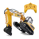 cheap RC Boats-RC Car HUINA 1550 15 Channel Excavator / Construction Truck 1:12 KM/H Remote Control / RC / Rechargeable / Electric