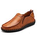 baratos Sapatilhas e Mocassins Masculinos-Homens sapatos Pele Primavera / Verão / Outono Conforto Mocassins e Slip-Ons Caminhada Preto / Marron / Vinho / Loafers de conforto
