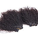 cheap Wedding Umbrellas-Brazilian Hair Afro / Kinky Curly Natural Color Hair Weaves Human Hair Weaves Natural Black Human Hair Extensions