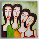 halpa Abstraktit maalaukset-Hang-Painted öljymaalaus Maalattu - Ihmiset Abstrakti Kangas