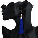 cheap High Quality Duvet Covers-Women's Tassel Long Earring Back Drop Earrings Hoop Earrings Earrings Ladies Dangling Tassel Bohemian Boho Jewelry Coffee / Red / Royal Blue For Dailywear Gift Traveling