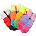 cheap Dog Clothes-Cat Dog Coat Shirt / T-Shirt Sweatshirt Vest Dog Clothes Color Block Black Fuchsia Green Blue Cotton Costume For Pets Women's Party