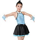 cheap Wall Stickers-Jazz Dresses Women's Performance Spandex / Satin / Sequined Sequin / Crystals / Rhinestones Sleeveless Natural Dress / Gloves / Neckwear / Cheerleader Costumes / Modern Dance
