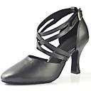 baratos Sapatos de Dança Moderna-Mulheres Sapatos de Dança Latina Couro Sintético Sandália Cruzado Salto Agulha Personalizável Sapatos de Dança Preto / Espetáculo