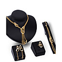 cheap Jewelry Sets-Women's Jewelry Set - Rhinestone, Gold Plated Personalized, Luxury, Vintage Include Gold For Party / Special Occasion / Housewarming