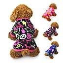 preiswerte Hundekleidung-Katze Hund Mäntel T-shirt Pullover Hundekleidung Herz Schwarz Fuchsia Blau Polar-Fleece Kostüm Für Haustiere Damen Party