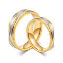 cheap Rings-Couple's Couple Rings - Rose Gold, Titanium Steel Simple Style, Elegant 5 / 6 / 7 / 8 / 9 Gold For Wedding Anniversary Party Evening / Engagement / Daily / Valentine