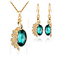 cheap Jewelry Sets-Women's Synthetic Emerald / Synthetic Diamond Jewelry Set - Gold Plated Animal Fashion Include Bridal Jewelry Sets Red / Green / Blue For Event / Party / Dailywear / Gift