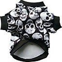 cheap Dog Clothes-Dog Costume Dog Clothes Skull White Black Rainbow Cotton Costume For Winter Cosplay Halloween