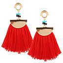 cheap Women's Boots-Women's Tassel Drop Earrings / Pendant / Dangle Earrings - Personalized, Luxury, Geometric Red / Pink / Lake Blue For Christmas / Christmas Gifts / Wedding