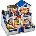cheap Doll Houses-Wood Model Model Building Kit DIY House Wood Natural Wood Classic Pieces Unisex Adults' Gift