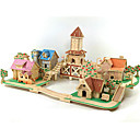 cheap Models & Model Kits-3D Puzzle Jigsaw Puzzle Wood Model Model Building Kit Famous buildings House DIY Wood Classic Romantic Unisex Gift
