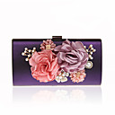 cheap Clutches & Evening Bags-Women's Bags Polyester Evening Bag Rhinestone / Pearls / Floral Green / Purple / Wine