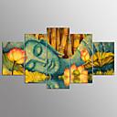זול הדפסים-הדפסי בד מתוחים מופשט (אבסטרקטי),חמישה פנלים בַּד אופקי דפוס דקור קיר קישוט הבית